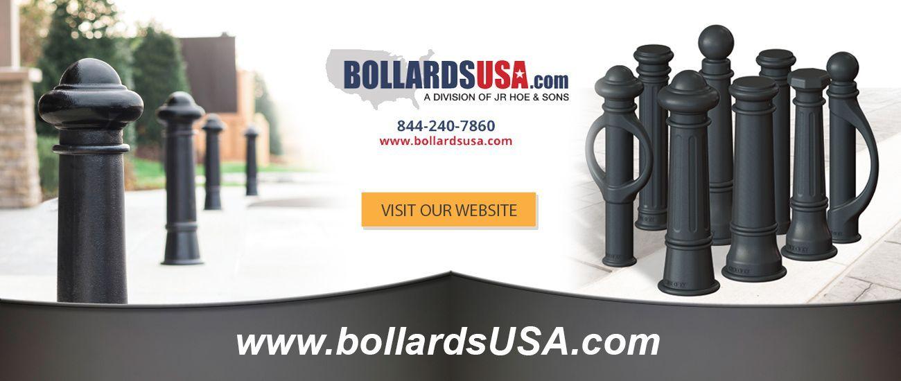 decorative bollards, landscape bollards, and cast iron bollards at